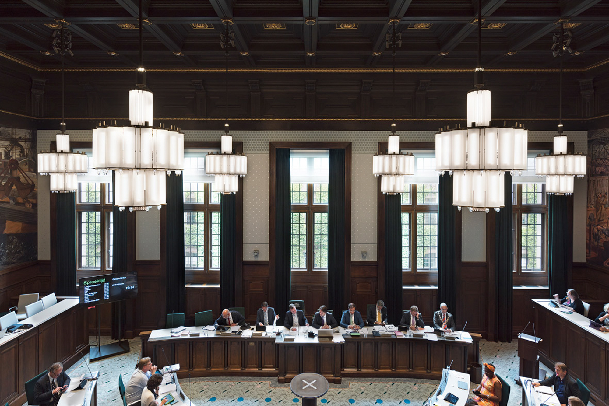Zonwering In Rotterdam : Uitgelicht stadhuis rotterdam raadszaal